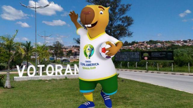 De Votorantim? Capivara será mascote da Copa América; votação vai definir o nome