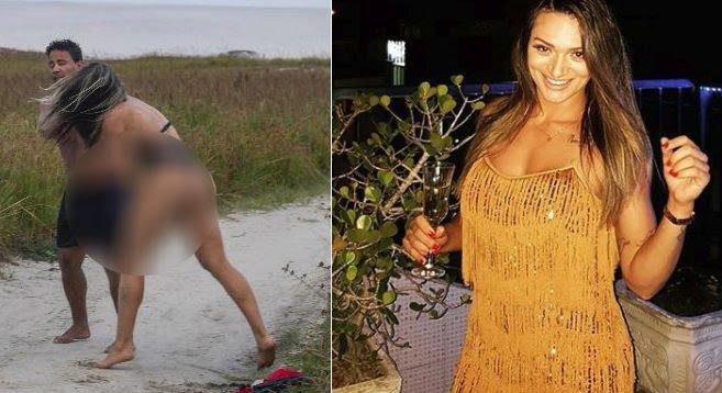 Lutadora de MMA reage e coloca homem que se masturbava em praia para correr