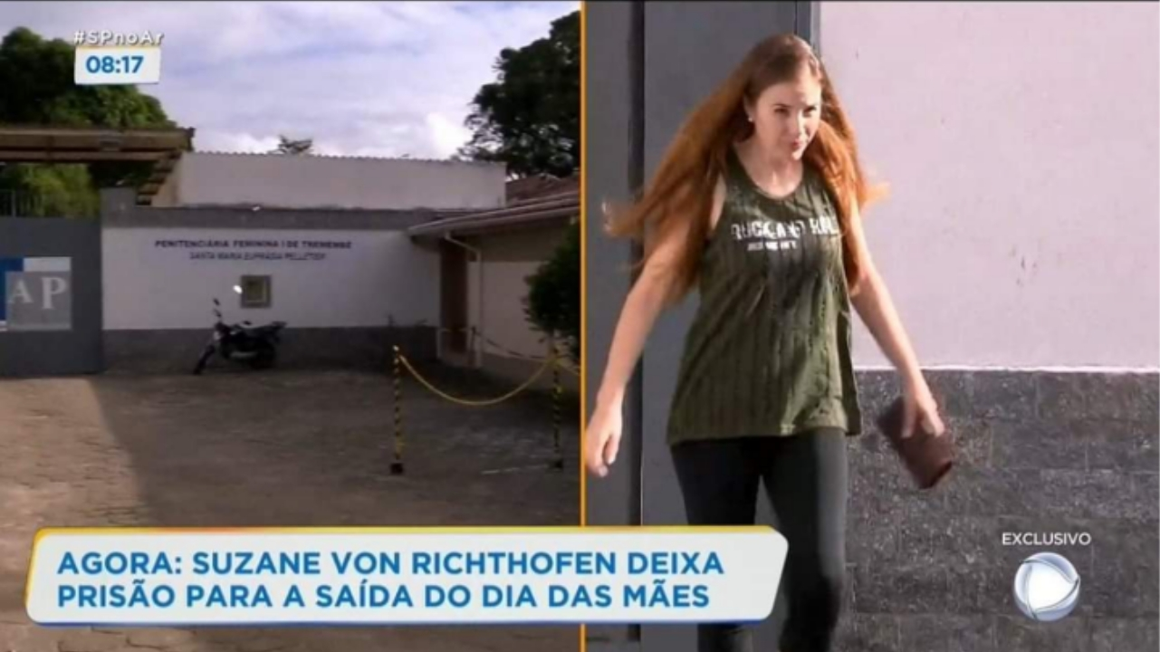 Suzane von Richthofen deixa prisão para 'saidinha' temporária de Dia das Mães