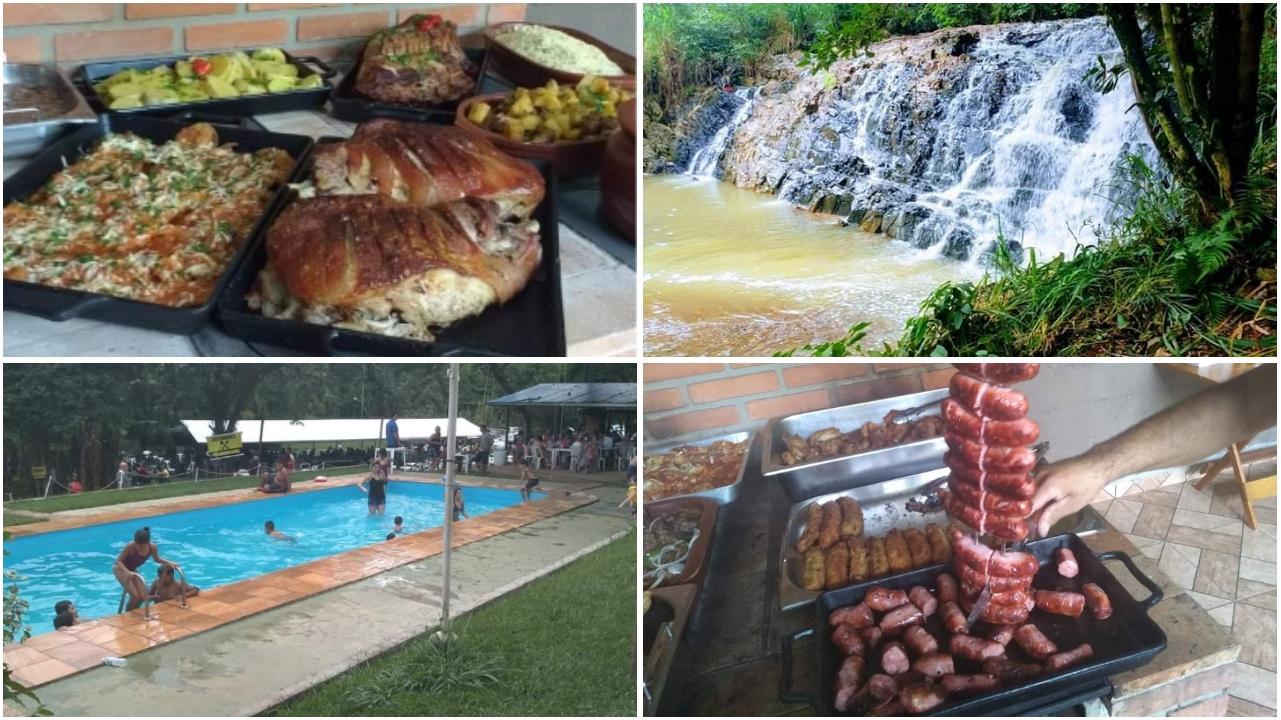 Muita comida boa e diversão na região de Sorocaba: Restaurante Cachoeira do Caipirão