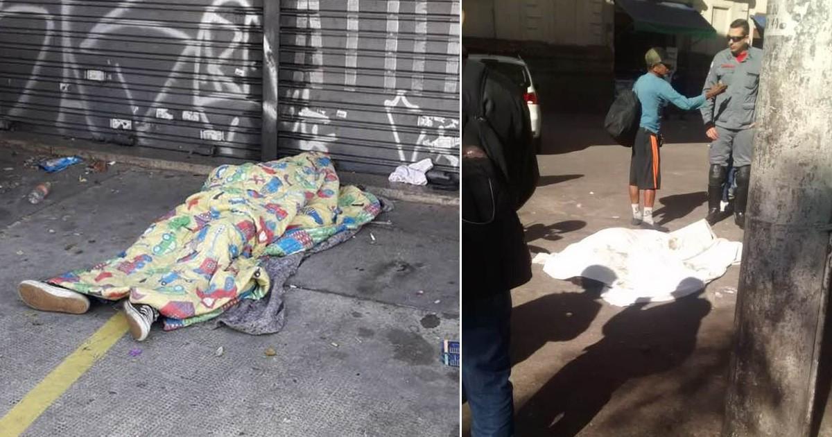Dois moradores de rua morrem em SP na madrugada mais fria do ano