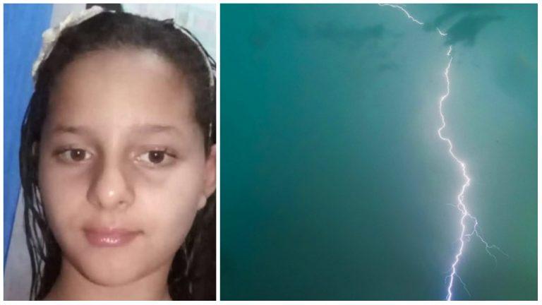 Menina de 10 anos morre ao ser atingida por raio ao ajudar o pai recolher roupas
