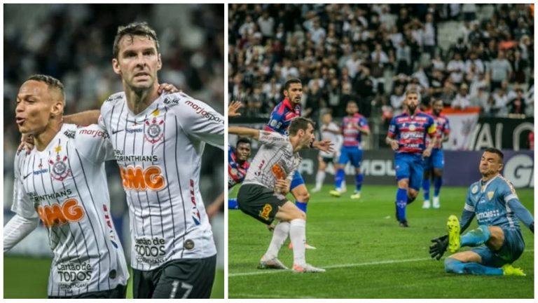 Corinthians joga bem, e de virada, vence o Fortaleza pelo Brasileirão