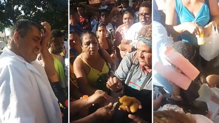 Moradores compram coxinhas e suco de vendedor para fiscalização não apreender