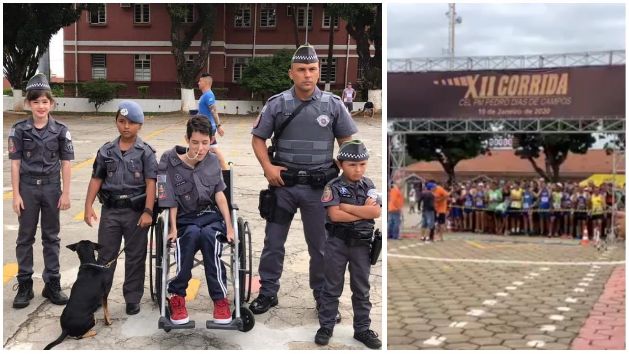 PM de Sorocaba e população correram hoje (19) em prol de irmãos com doença rara