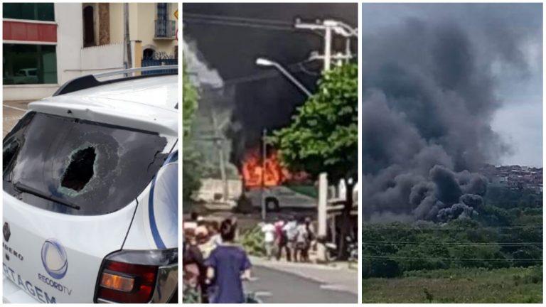 Moradores ateam fogo em ônibus e apedrejam carro da Record durante protesto em Sorocaba