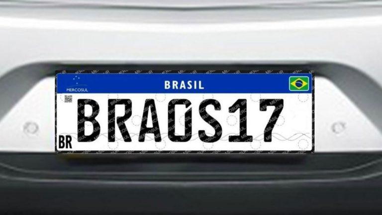 Placas do Mercosul entram em vigor nesta sexta e podem custar até R$ 500; Veja preços