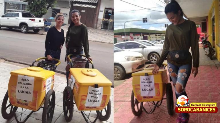 Jovens vendem picolé para comprar remédios para criança especial