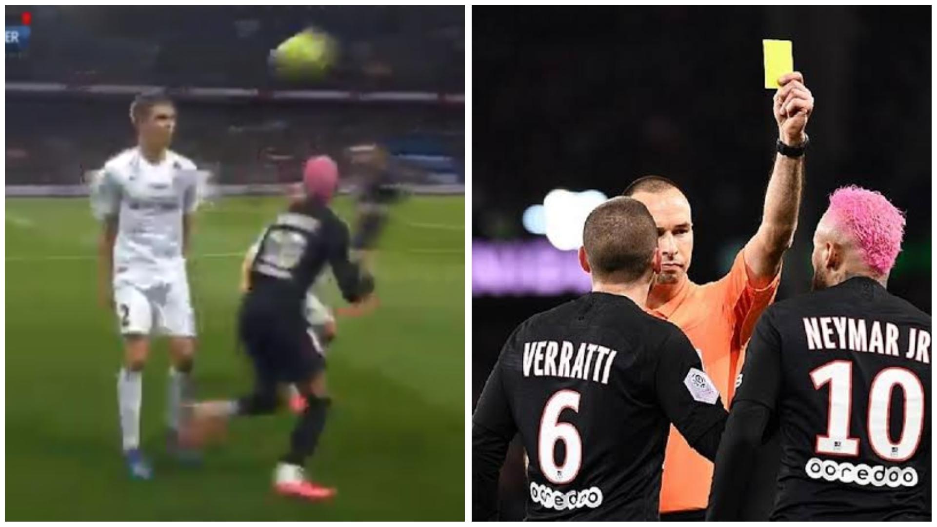 O futebol arte está morrendo: Neymar aplica lambreta e leva cartão amarelo