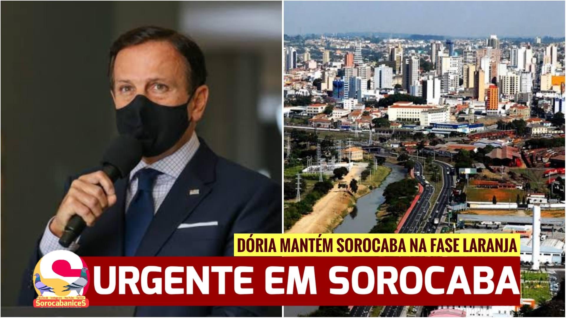 João Dória mantém Sorocaba na fase laranja do plano SP; assista