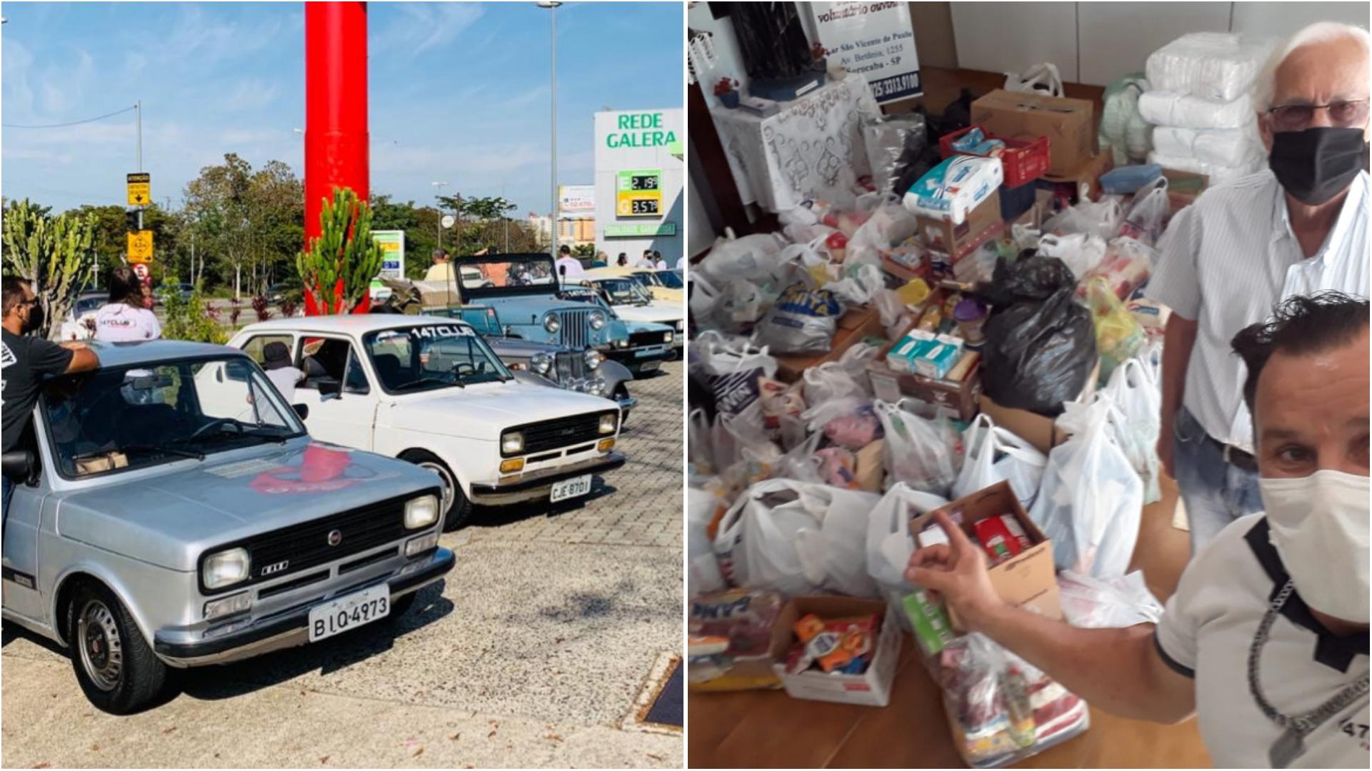 147 Clube e amigos, arrecadam e doam alimentos para idosos em Sorocaba