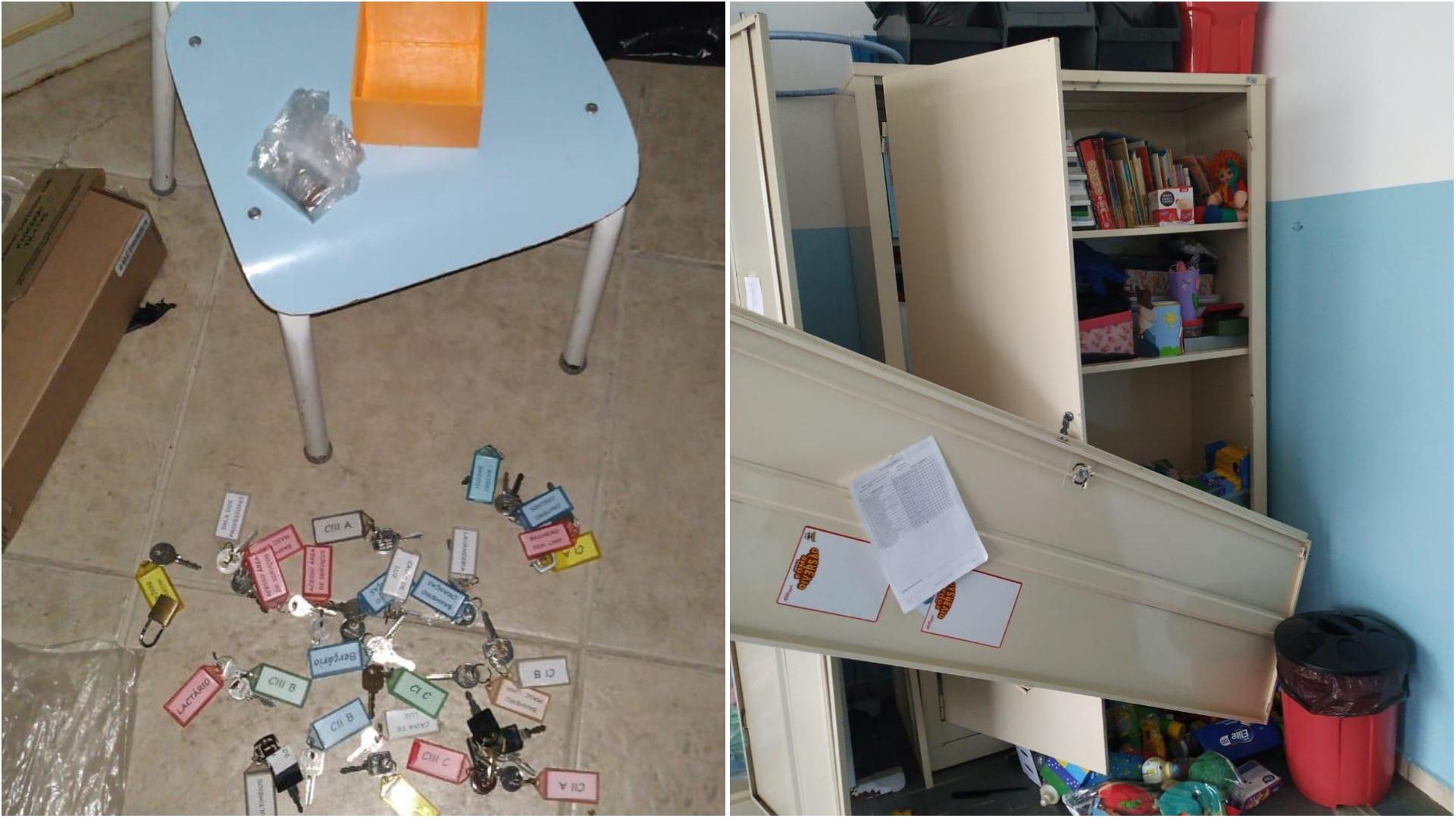 E de novo, marginais furtam escola infantil no Jd. Josane em Sorocaba; fotos