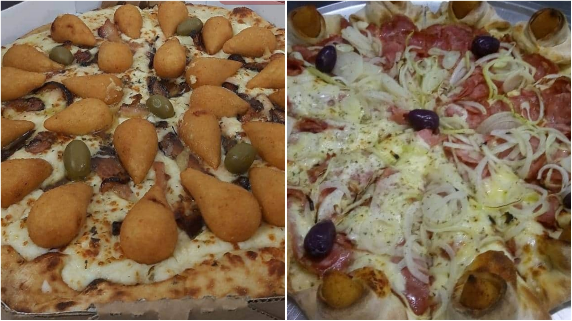 """Pizza de Coxinha faz sucesso em pizzaria de Sorocaba; """"Uma delícia!"""""""