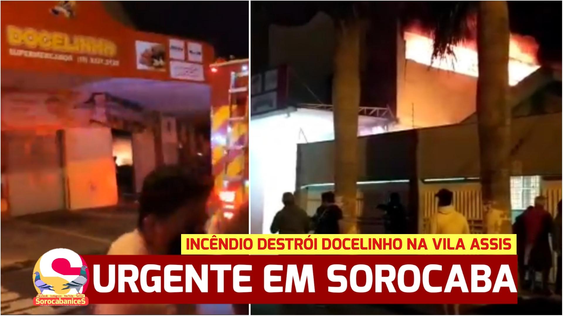 URGENTE: Incêndio toma conta da Docelinho na Vila Assis em Sorocaba; vídeo
