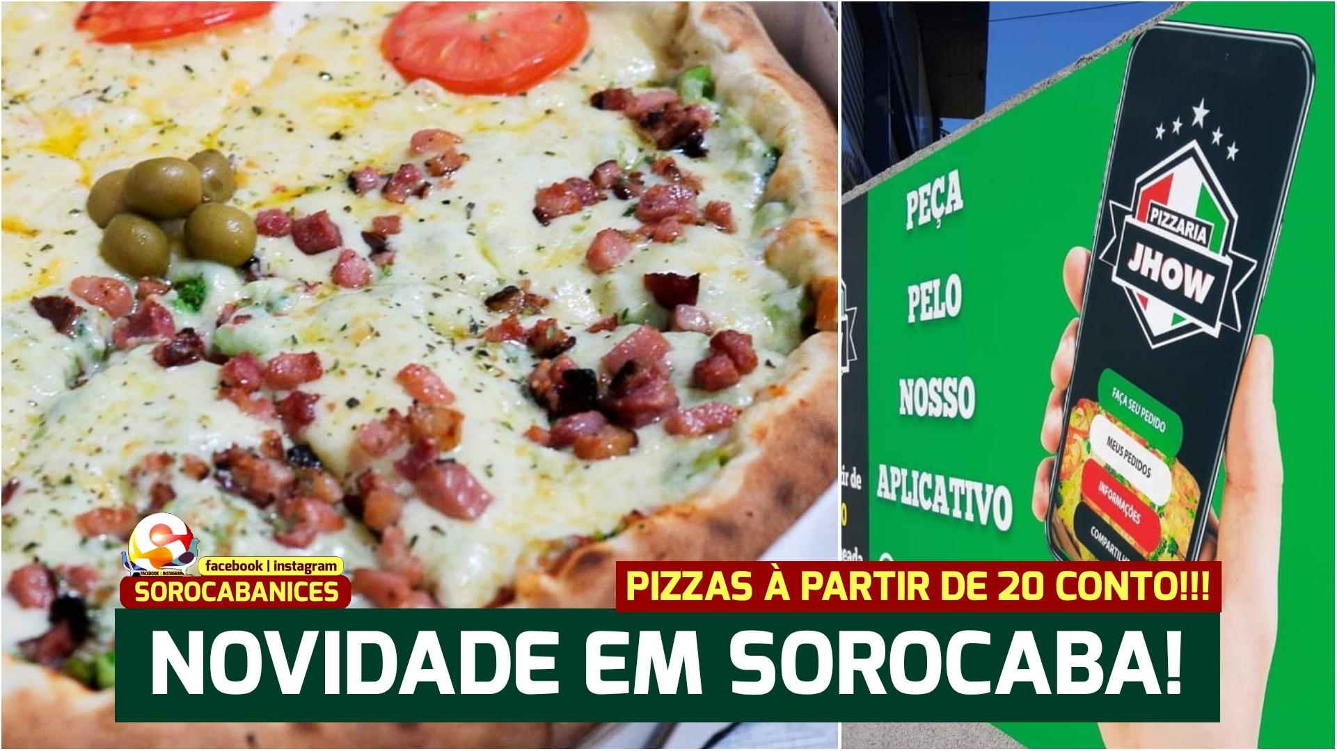 Pizzaria inaugura em Sorocaba com pizzas à partir de R$20 e opção de recheio em dobro