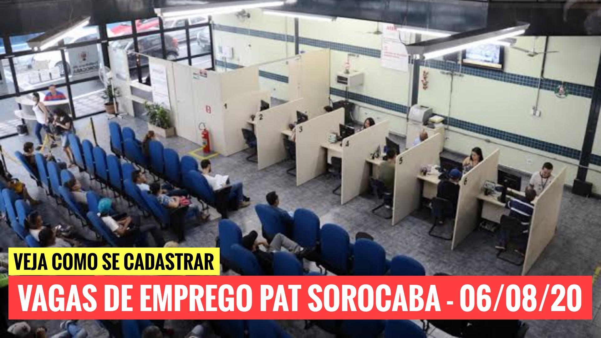 PAT Sorocaba está com vagas de emprego para Almoxarife, Aux. de Escritório, Conferente Líder e outros; confira!