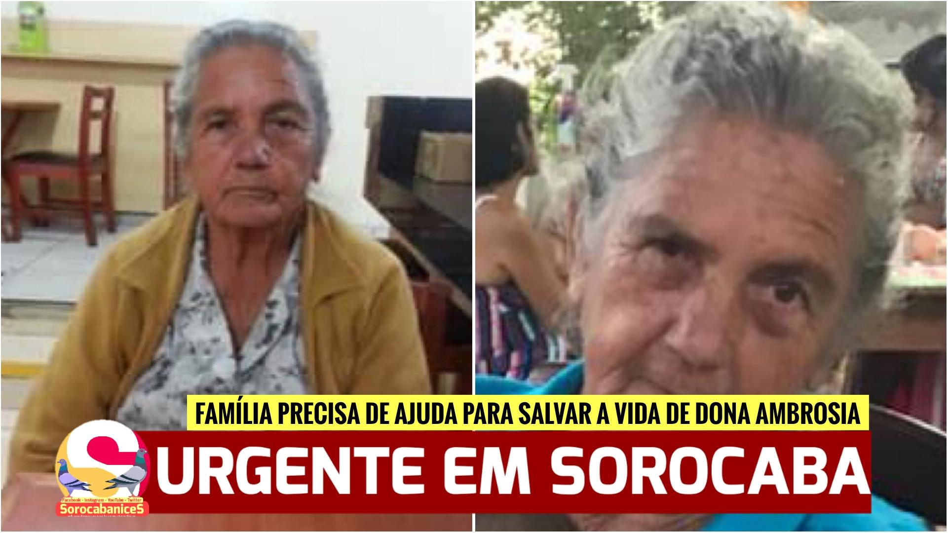 Família precisa de ajuda para cirurgia de idosa de 79 anos com câncer em Sorocaba