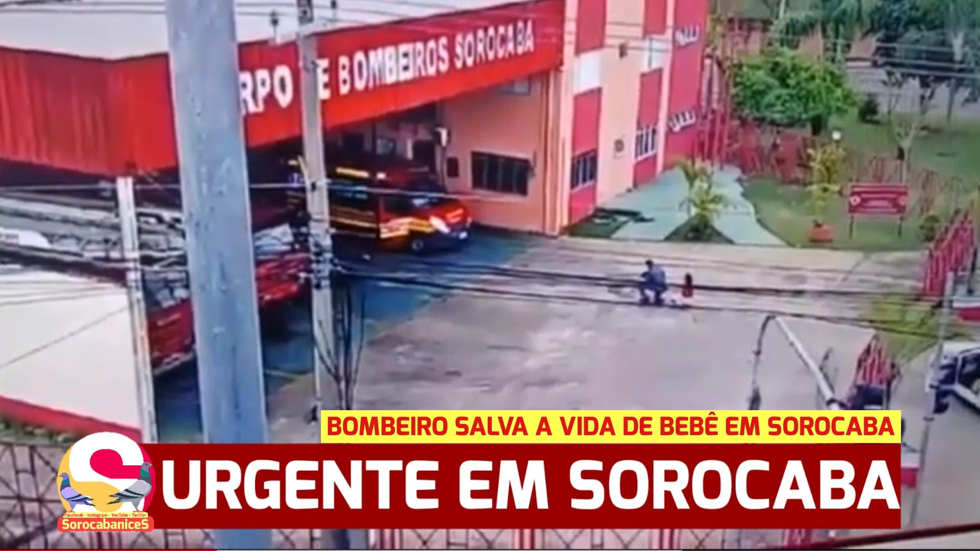 """Bombeiro salva bebê engasgado com bala em Sorocaba; """"verdadeiro herói!"""""""