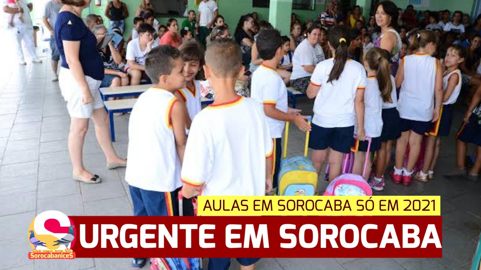 Sorocaba determina retorno das aulas da rede municipal só em 2021