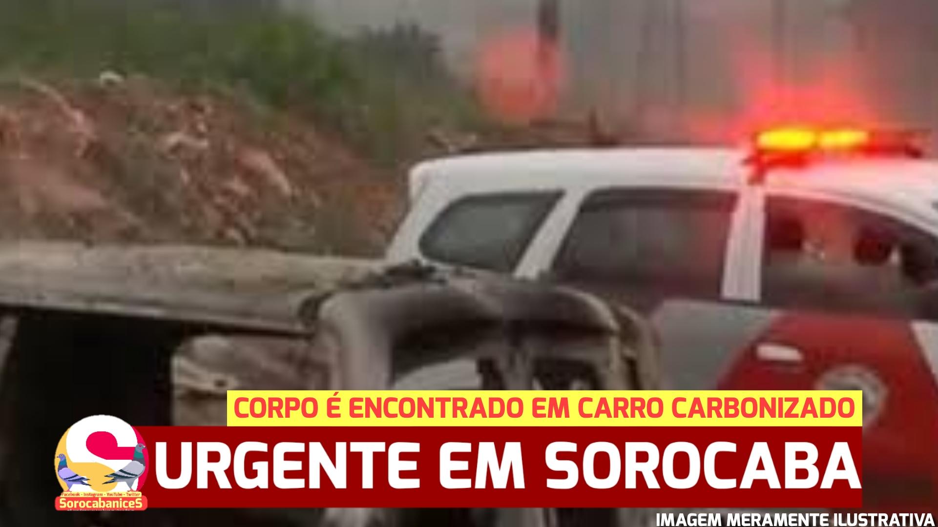 Corpo carbonizado é encontrado em carro na zona norte de Sorocaba