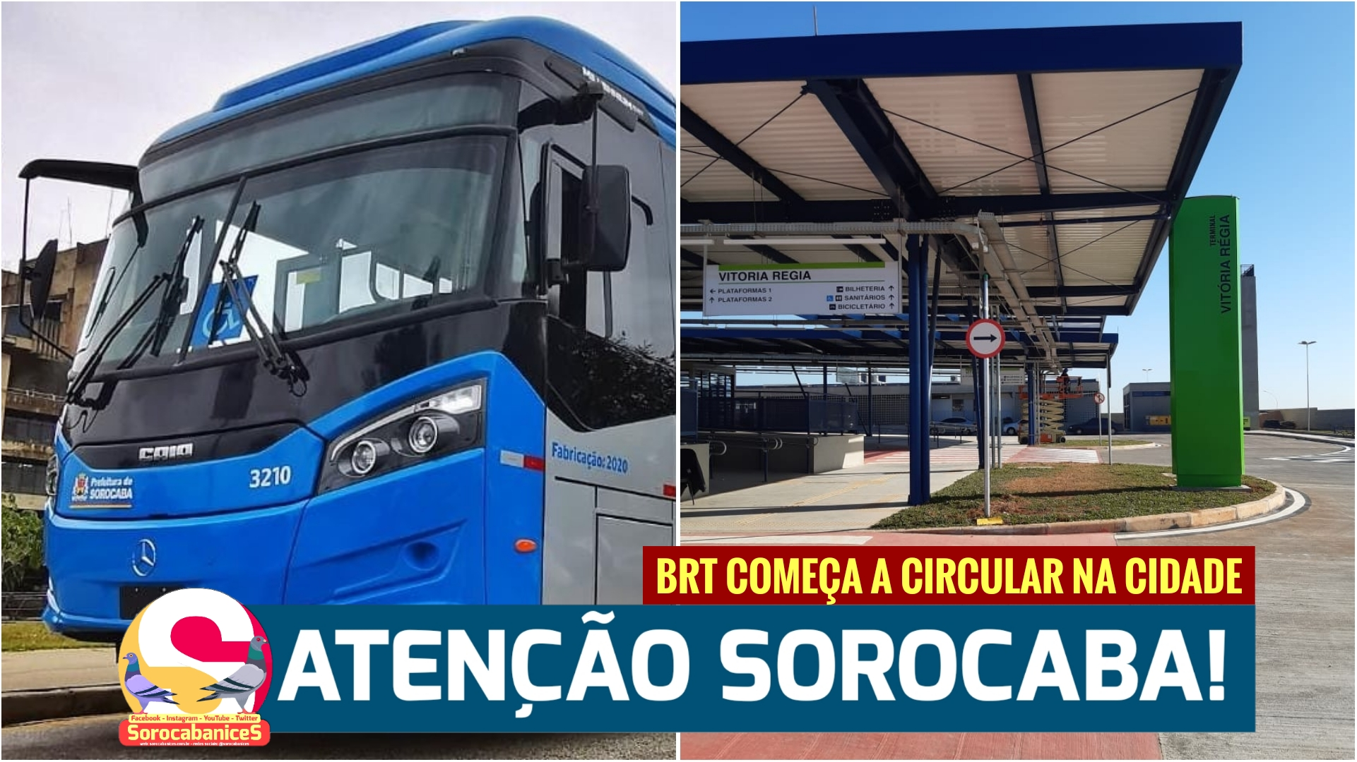 BRT começa a circular hoje em Sorocaba, veja as linhas, bairros e horários