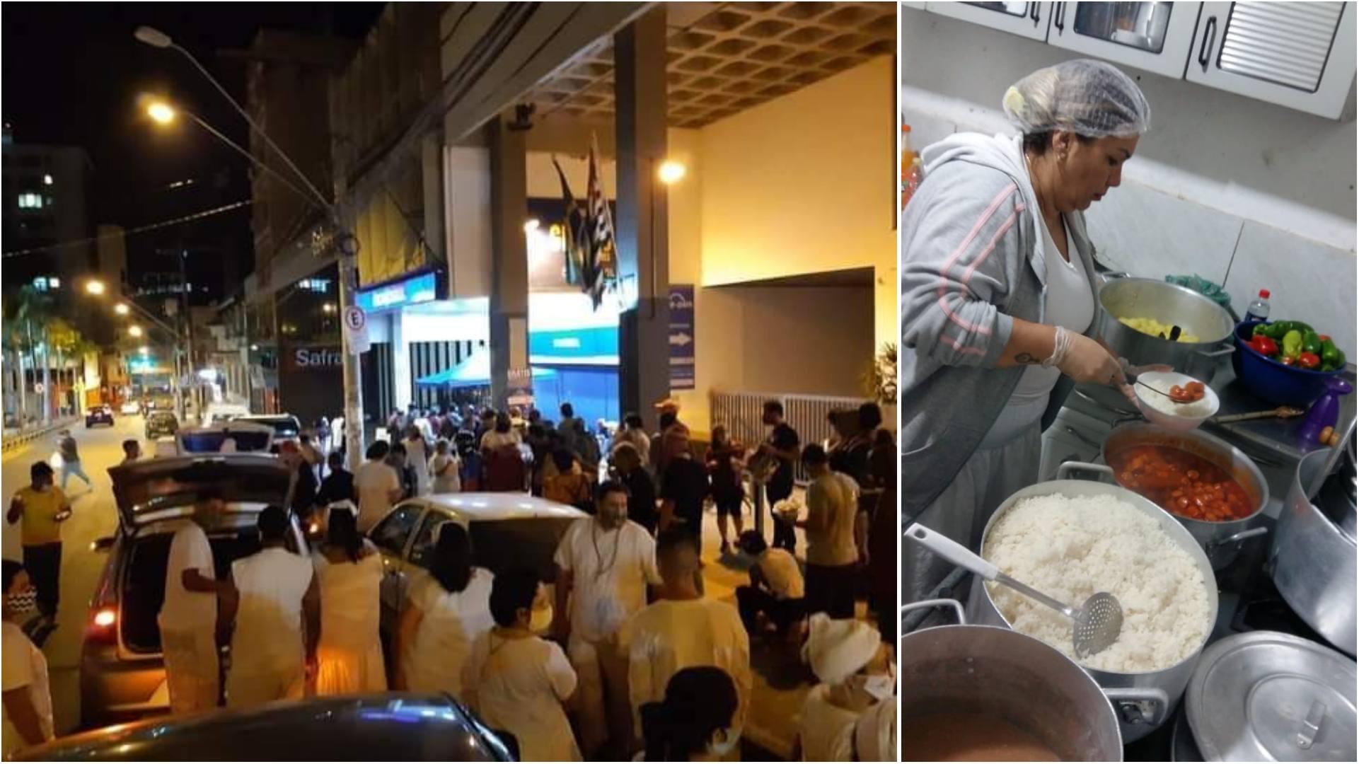 Para aliviar o frio, amigos levam cobertores e comida para moradores de rua em Sorocaba