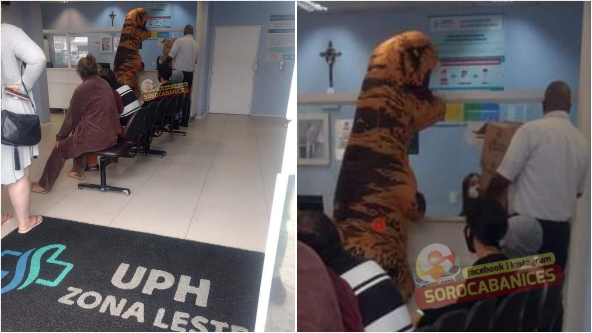 'Dinossauro' é flagrado na recepção da UPH Zona Leste de Sorocaba