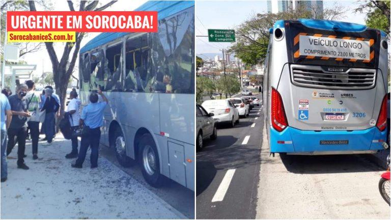 BRT bate em árvore e machuca passageiros em Sorocaba; assista ao vídeo