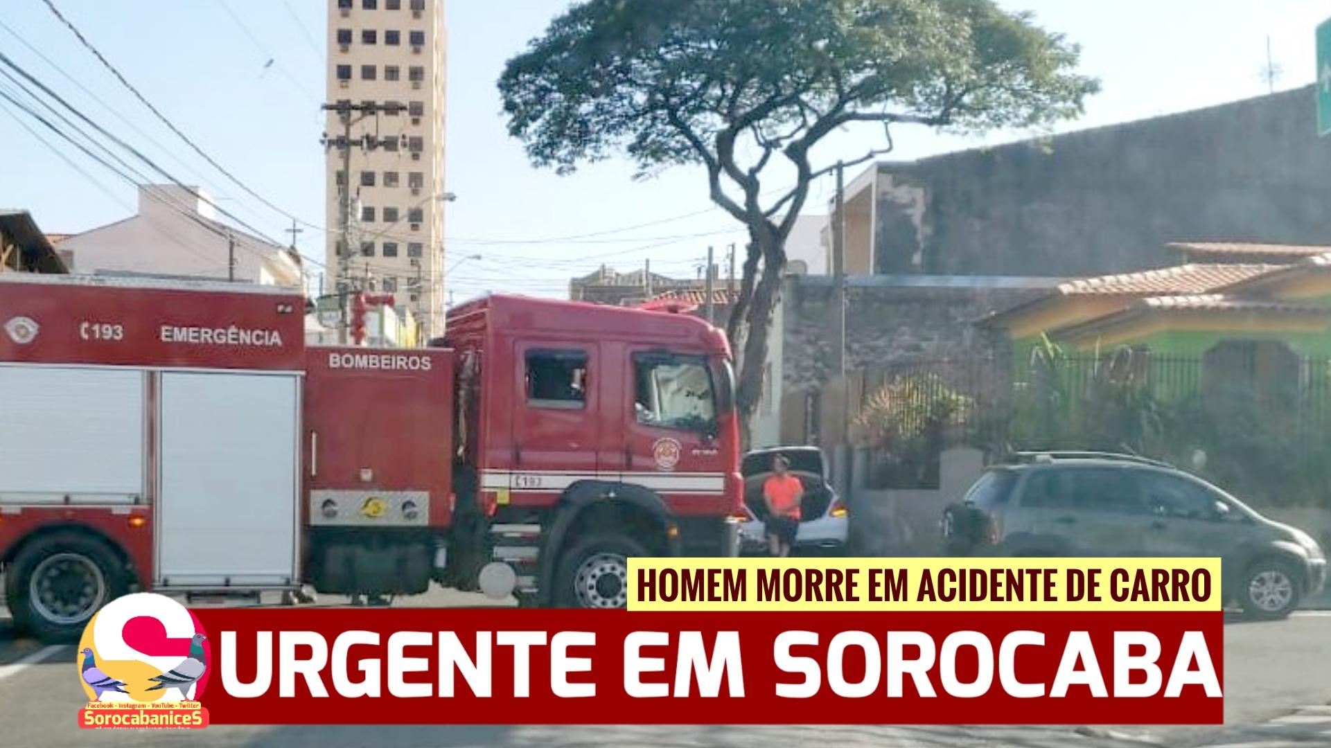 Motorista morre em acidente de carro na região da Vila Jardini em Sorocaba
