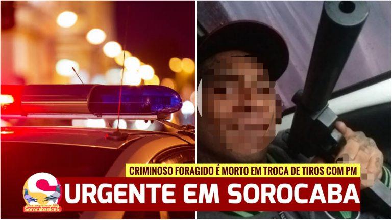 Criminoso foragido morre em confronto com Polícia Militar em Sorocaba