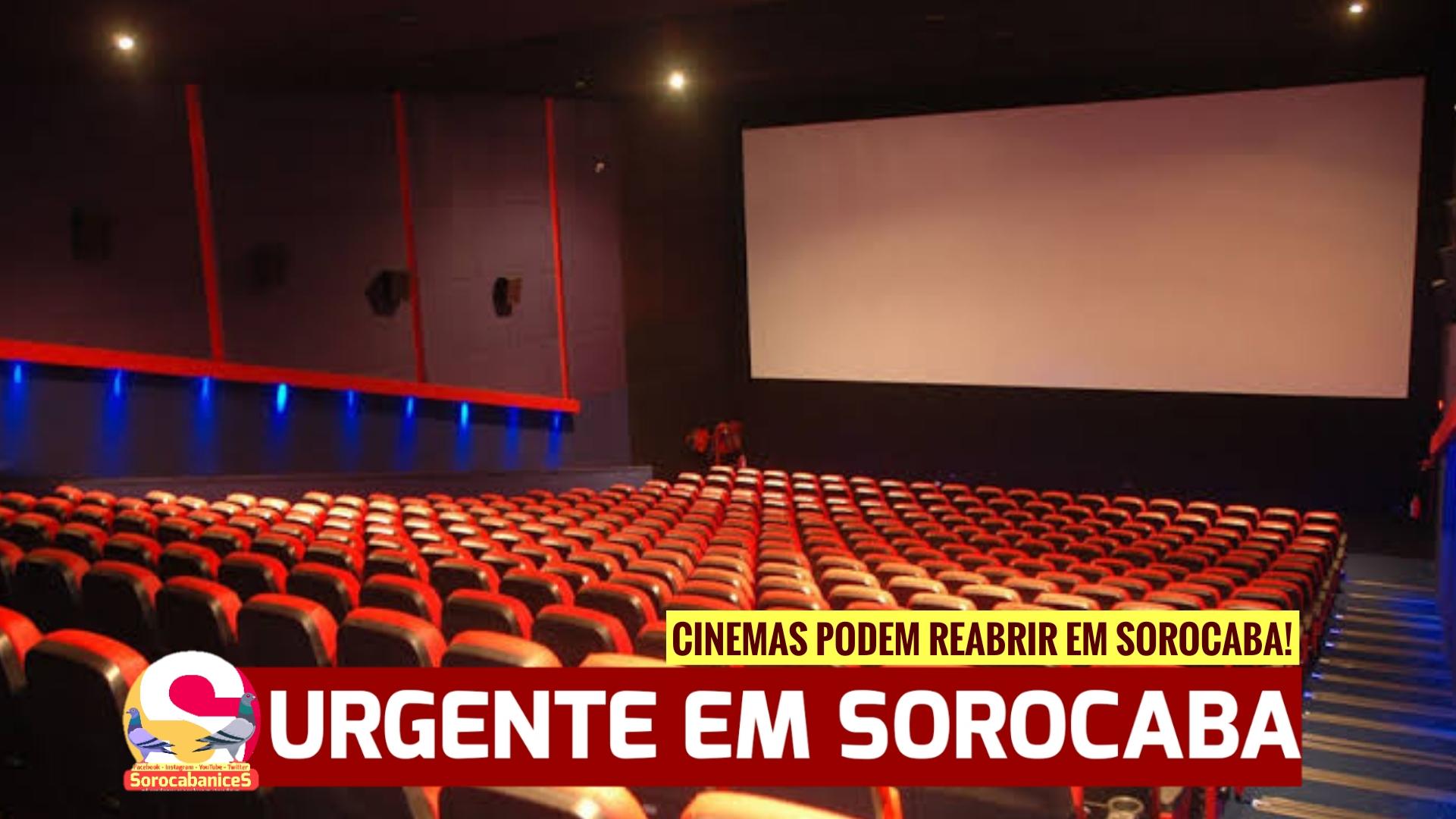 Cinemas, espaços de entretenimento e culturais já podem funcionar em Sorocaba