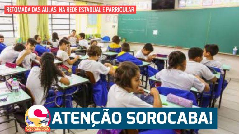 Aulas na rede estadual e privada retomam à partir de amanhã (8) em Sorocaba; entenda
