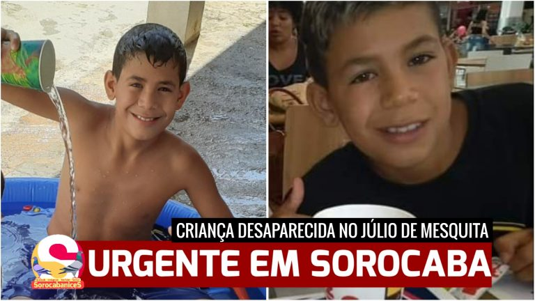 Menino de 12 anos desaparece no Júlio de Mesquita, zona oeste de Sorocaba