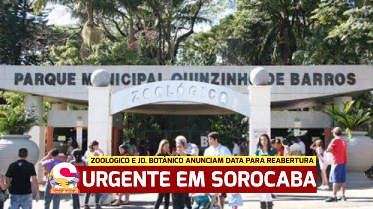Parques, Zoológico e Jardim Botânico Sorocaba anunciam data para reabertura