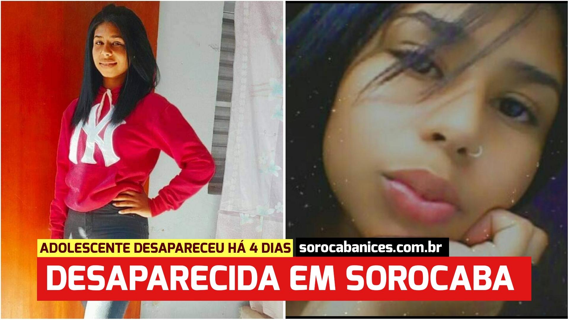Adolescente de 15 anos já está desaparecida há 5 dias em Sorocaba