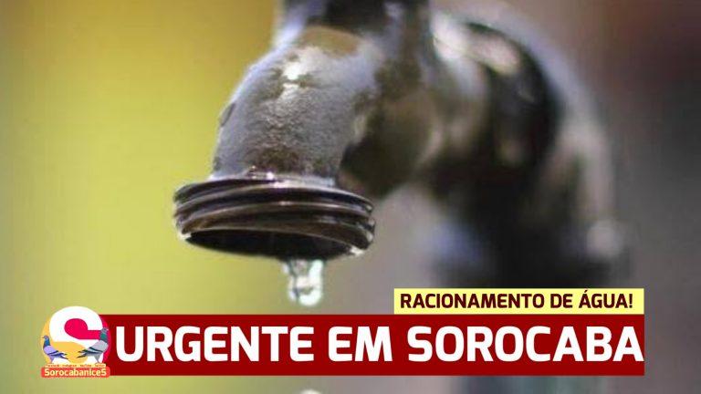 SAAE começará racionamento de água em alguns bairros de Sorocaba; confira