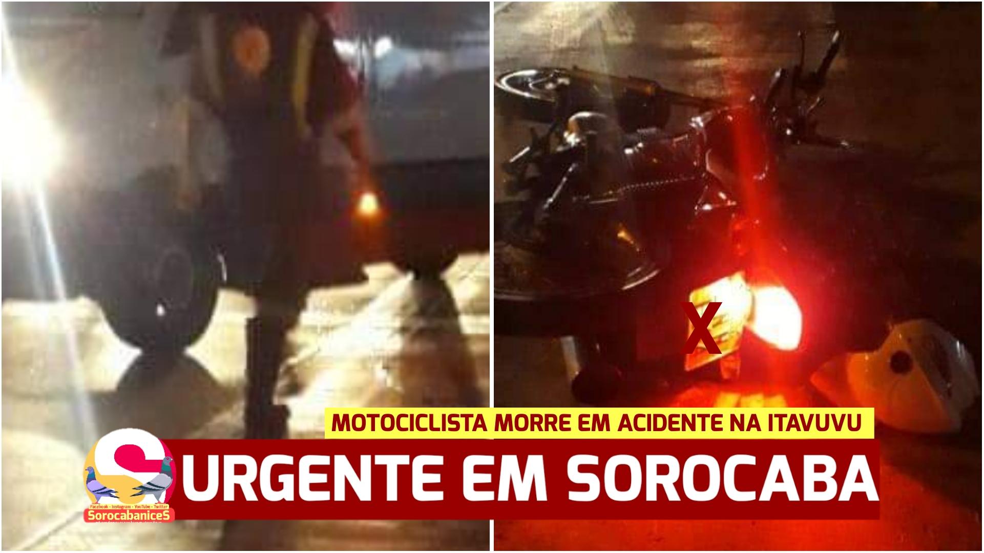 Motociclista morre em acidente na avenida Itavuvu, zona norte de Sorocaba