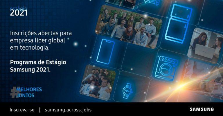 Samsung abre inscrições para programa de estágio; Marketing, Publicidade e outros