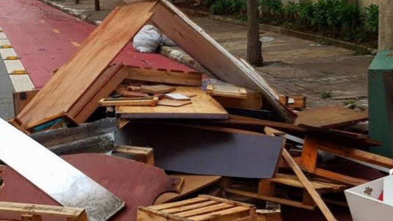 Mais de 370m³ de entulhos são retirados das ruas de Sorocaba