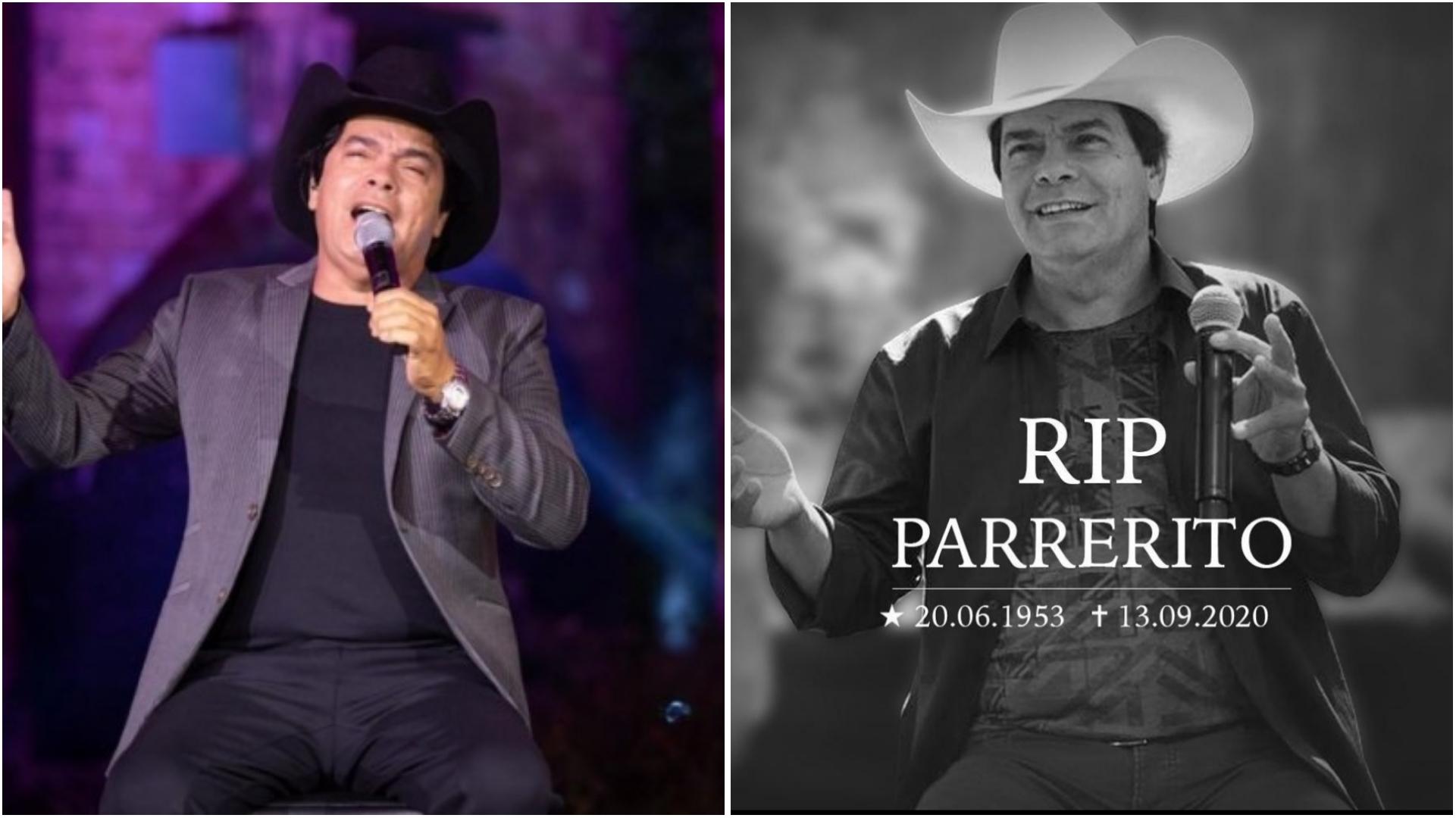 Morre Parrerito, do Trio Parada Dura, aos 67 anos vítima da covid-19