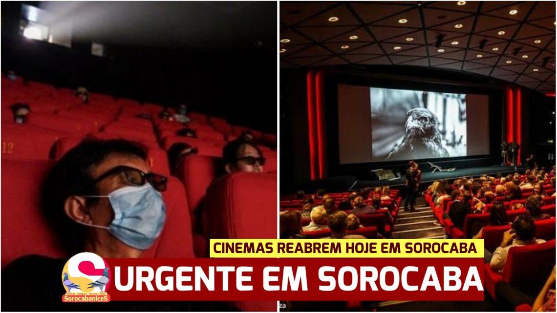 Cinemas reabrem hoje (01) em Sorocaba; veja em quais shoppings!
